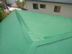 屋根塗装完工2