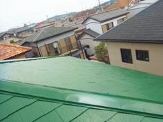 屋根塗装完工1