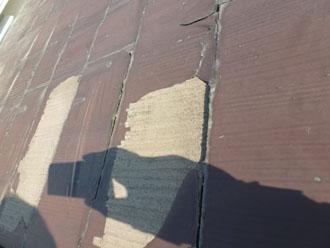 スレート屋根の塗装剥がれ