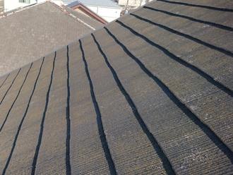 成田市吾妻にて初めての屋根塗装を実施、ニッペサーモアイを使用いたしました