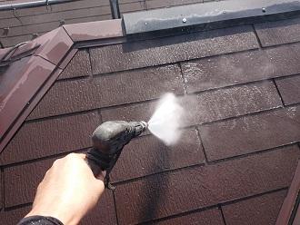 スレート高圧洗浄