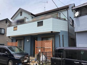 柏市みどり台のお客様邸で屋根カバー工事と外壁塗装工事