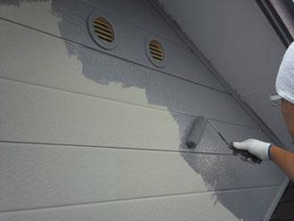 ハイポンファインデクロで外壁の下塗り