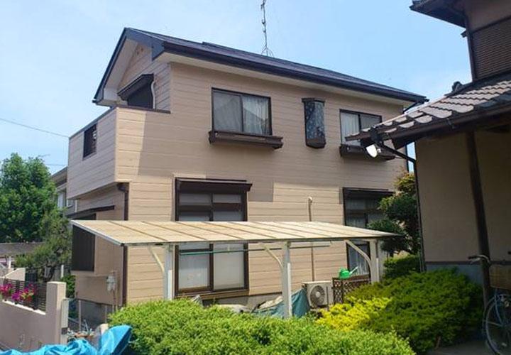 印旛郡栄町竜角寺台で屋根外壁塗装を行いました
