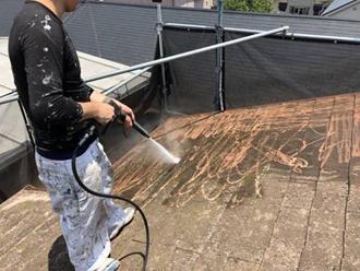 スレート 高圧洗浄