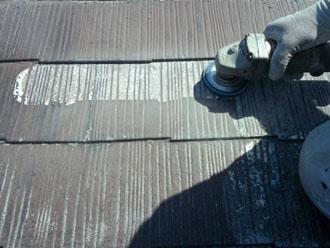 スレート屋根のケレン