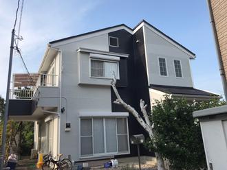 柏市藤ケ谷にてスーパーガルテクトで屋根カバー、パーフェクトトップで外壁塗装工事