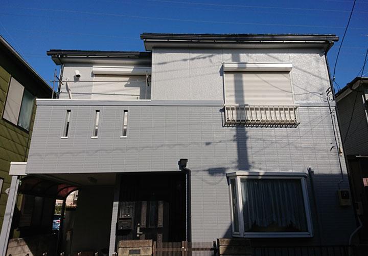 ツートンカラーを使用した外壁塗装が竣工