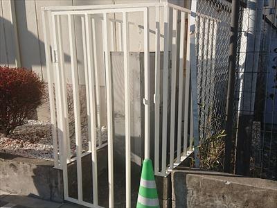 鉄柵塗装完了