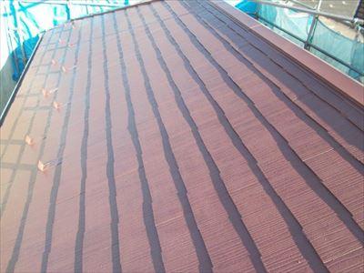 サーモアイSi,クールブラウンでの屋根塗装
