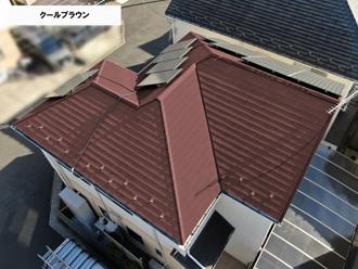 屋根クールブラウン