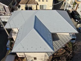 サーモアイ4Fで塗装した屋根