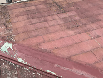我孫子市栄にて築22年のスレート屋根を塗装致しました