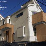 屋根:クールジェノバブラウン-外壁-ベース:SR111-玄関周り・一階南:AC1923