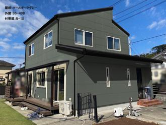屋根:クールダークグレー-外壁:35-40B-付帯部:N-15