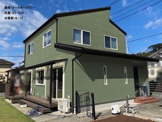 屋根:クールダークグレー-外壁:35-50D-付帯部:N-15