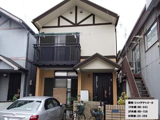 屋根:シェイドチャコール-1F外壁:ND-343-2F外壁:ND-108-付帯部:23-255