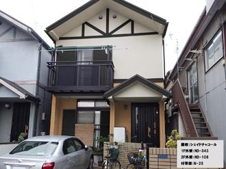 屋根:シェイドチャコール-1F外壁:ND-343-2F外壁:ND-108-付帯部:N-25