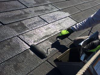 君津市 屋根仕上げ塗装2回目