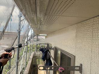 君津市 外壁高圧洗浄