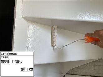 豊島区東池袋にて鉄階段をファインSIを使用して塗装を行ないました