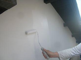 木更津市 漆喰壁の塗装
