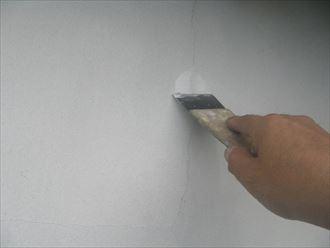 木更津市 漆喰部の亀裂補修