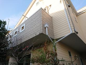 横浜市港北区篠原東にてパーフェクトトップ(ND-280)を使用した外壁塗装で新築時に近い仕上がりに