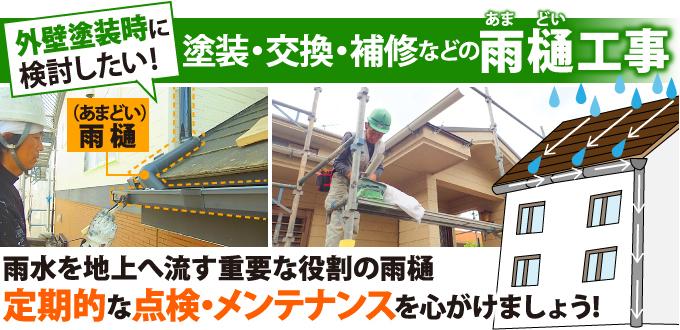 塗装・交換・補修などの雨樋工事