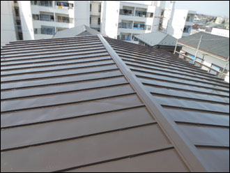 横浜市青葉区で屋根リフォーム 屋根塗装 瓦棒金属屋根