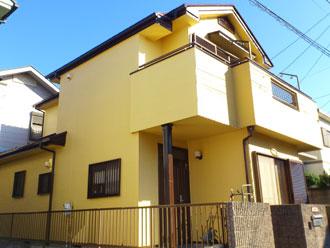 千葉市の外壁リフォーム 屋根:サーモアイ遮熱塗料 外壁:ナノコンポジットW