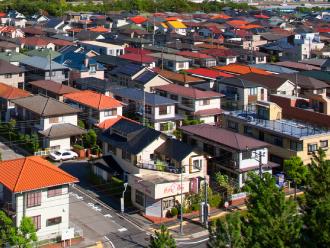 屋根の見える街並み