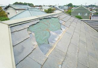 屋根材の破損