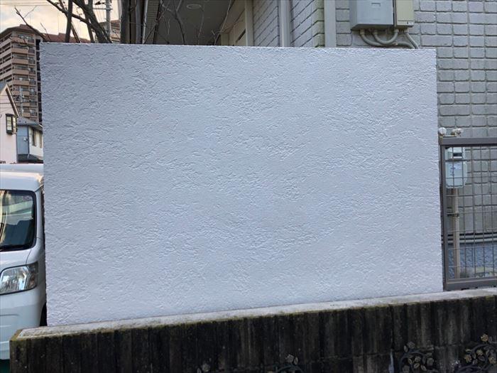 塀塗装工事竣工