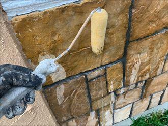 ブリックタイルの塗膜保護