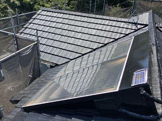 太陽光パネル設置済の屋根塗装