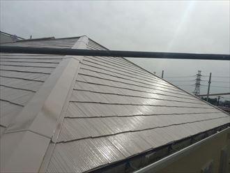 屋根塗装,上塗り