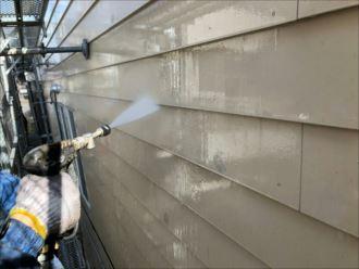 浦安市堀江 外壁の洗浄