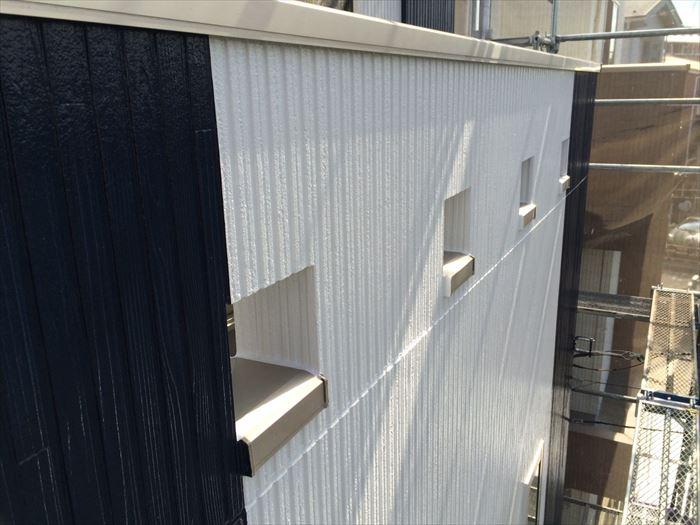 外壁塗装工事の色分け確認