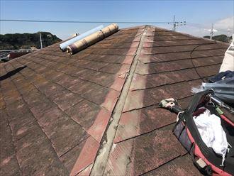屋根カバー工法の準備