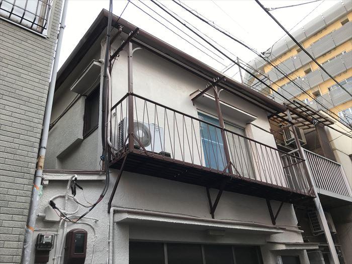 台東区千束にてパーフェクトトップ(ND-371)で外壁塗装メンテナンス