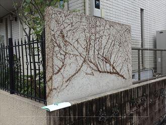 千葉市花見川区瑞穂の塀塗装点検