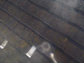 スレート屋根材の塗装工事