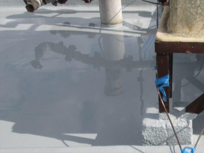 鴨川市横渚のビルにて通気緩衝工法によるウレタン塗膜防水で雨漏りを補修