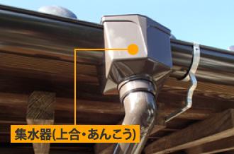 雨樋の集水器(上合・あんこう)