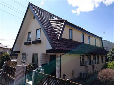 鎌ケ谷市|ハイルーフマイルドフッソとエラストコートで屋根外壁塗装!