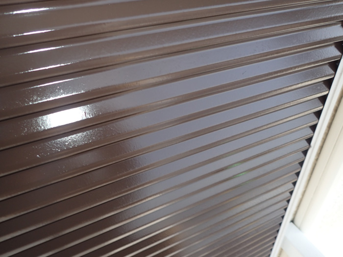 付帯部塗装 雨戸塗装 ファインSi チョコレート色