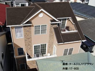 屋根:クールジェノバブラウン 外壁:17-80D