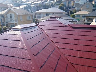 横浜市港南区でスレート屋根を塗装工事で蘇らせました