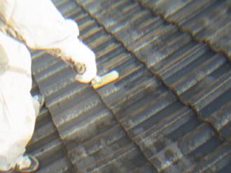 セメント瓦屋根への屋根塗装、シーラー